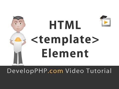 Html5 Şablon Öğesi Öğretici Javascript Programlama.