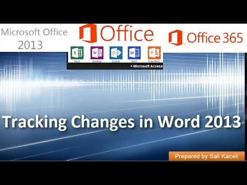 18. Word 2013 Yılında Değişiklikleri İzleme Kullanma