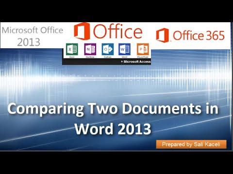 19. Word 2013 Yılında İki Belge Karşılaştırılırken