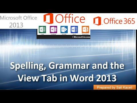 20. Word 2013 Yılında Yazım, Dilbilgisi, Eş Anlamlılar Ve Görünüm Sekmesini Kullanma