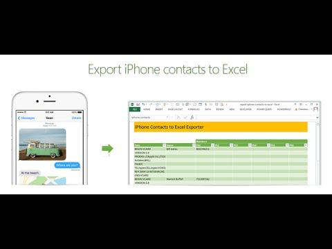 Nasıl İphone Kişileri Excel'e Vermek | Exceltutorials