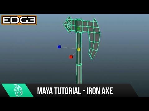 Maya Modelleme Eğitimi - Mudbox Hd'de Heykel İçin Bir Demir Balta Basemesh Oluşturma