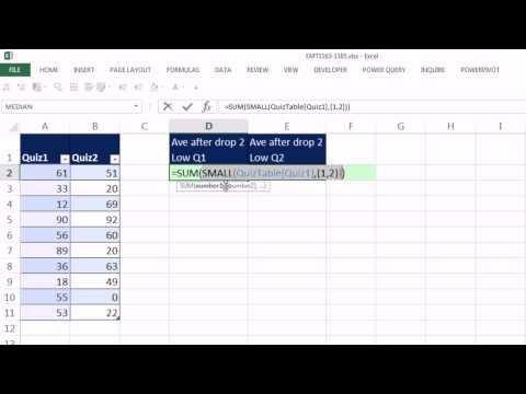 Excel Sihir Numarası 1164: İki En Düşük Çıkarılarak Sonra Skoru Ortalama: Küçük Ve Dizi Ya Da Aveageıf?