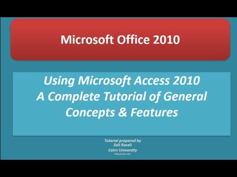 Microsoft Access 2010: Tam Özel Öğretmen Üstünde Başlangıçtan İleri