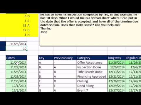 Bay Excel Ve Excelisfun Hile 168: Oluşturmak Liste, Tarihleri Gerçek Emlak Hareket