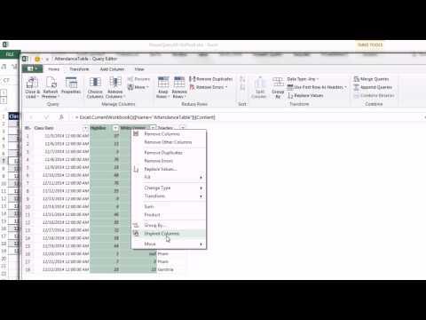 Excel Güç Sorgu #10: Uygun Veri Kümeleri Oluşturmak İçin Özellik Unpivot (2 Örnek)