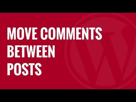 Yorum Wordpress Mesaj Arasında Taşımak Nasıl