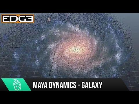 Maya Dynamics Eğitimi - Galaxy Parçacık Efektleri Hd