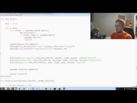 Pygame (Python Oyun Geliştirme) Eğitimi - 79 - Oyun Bitti Ve Kazanmak