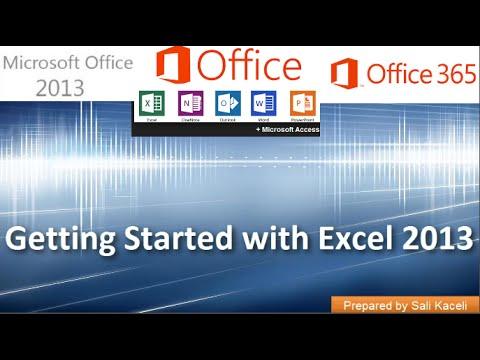 Excel 2013 (Office 365) İle Başlarken: Bölüm 1 / 18 [Eski Vıdeo]