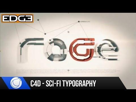 Sinema 4D - Sci-Fi Tipografi Eğitimi - Öfke P.2