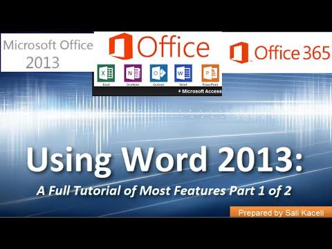 Word 2013 (Office 365) Kullanarak: Bir Tam Özel Öğretmen-İn Çoğu Özellikleri Bölüm 2 / 2