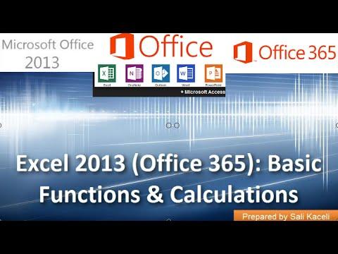 Çarpımı, Bölünme Ve Çıkarma Excel 2013 (Office 365): Temel Fonksiyonları Bölüm 3 18