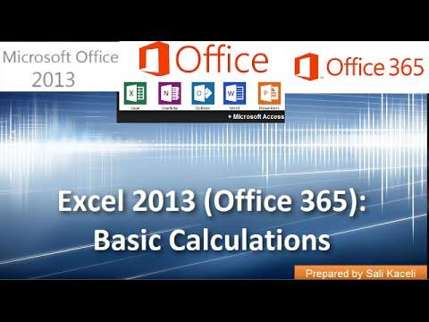 Ortalama Vb 18 2 Excel 2013 (Office 365) Yerinde Toplamı Hesaplama