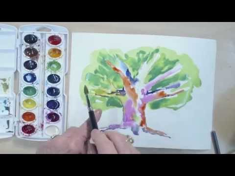 Birçok Ağaç Renkleri Suluboya Speedpaint   Cp