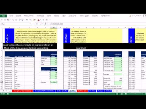 Excel 2013 İstatistiksel Analiz #5 Veri Kategorik, Kantitatif, Nominal, Sıra, Aralığı, Oranı