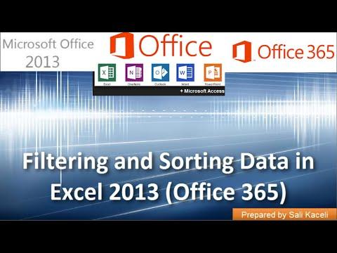 Sıralama Ve Süzme Excel 2013 (Office 365) Veri: Bölüm 6 18
