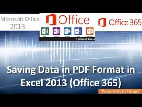 Paylaşımı Ve Veri Excel 2013 (Office 365) Pdf Biçiminde Kaydetme-18 Toplam 18