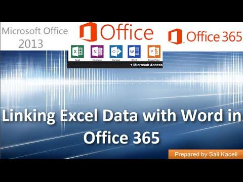 Word İle Excel Verilerini Office 2013 (Office 365) Raporlarında İçin Bağlama 16 18