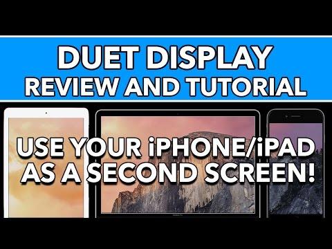 Düet Ekran Gözden Geçirme Ve Eğitimi - Kullanım İphone/ipad Mac İle İkinci Görüntü Olarak
