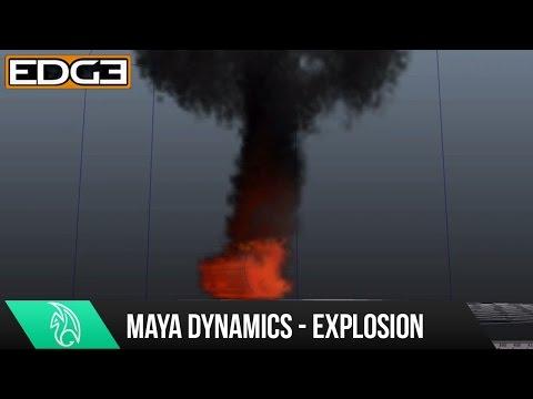 Maya Dynamics Eğitimi - Ateş Topu Patlama Hd