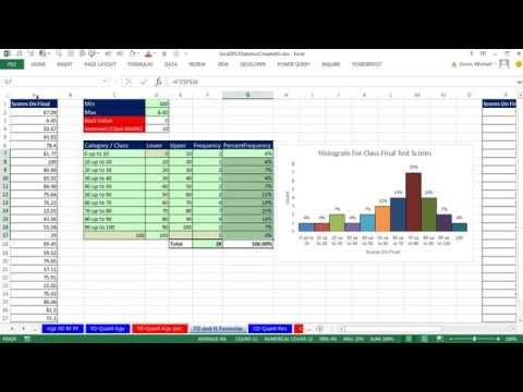 Excel 2013 İstatistiksel Analiz #8: Sıklık Dağılımları, Çubuk Grafikler, Eğriltme, Nicel Değişken