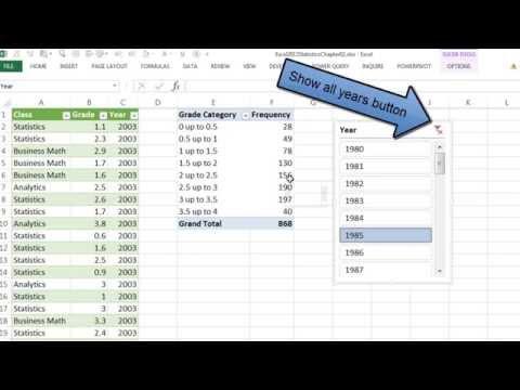 Excel 2013 İstatistiksel Analizi #11: Güç Sorgu Birden Çok Metin Dosyalarını İçe, Çubuk Grafik Yıllara Göre Sınıf
