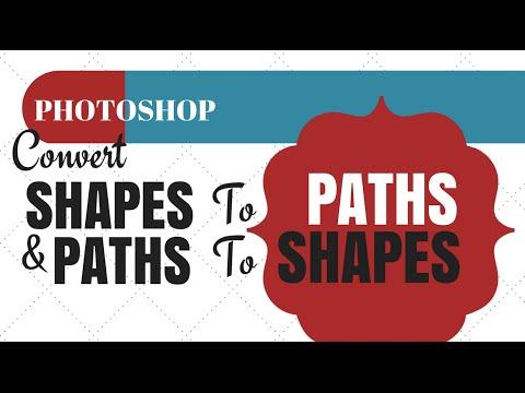 Photoshop Bir Şekil Ve Bir Şekil İçin Bir Yol İçin Bir Yol Dönüştürmek