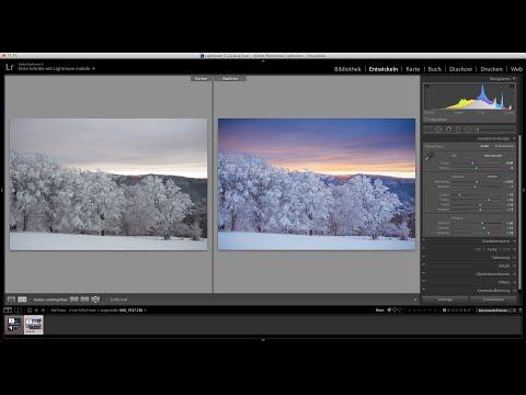 Göl Lightroom Tutorials - Schneelandschaft