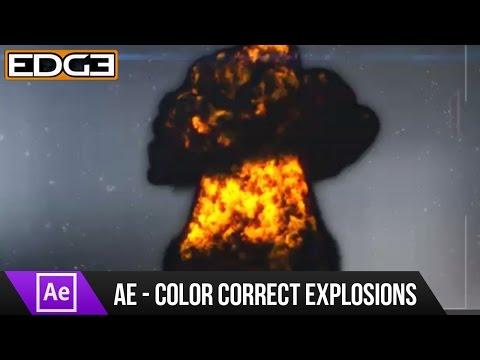 Efektleri Öğretici Renk Cg Patlamalar Düzeltme Sonra