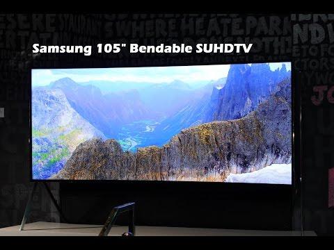 """Samsung 105"""" 21:9 Bükülebilir Suhdtv Göz Açma"""