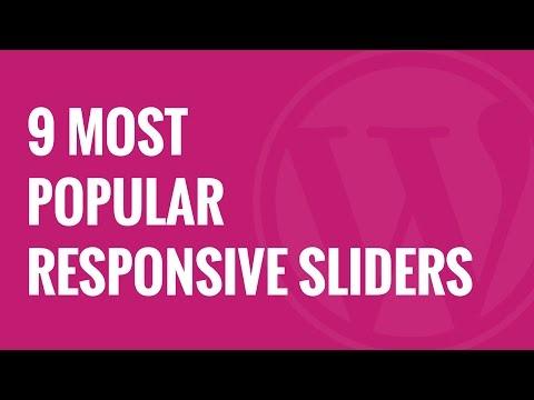 9 En Popüler Ücretsiz Duyarlı Wordpress Kaymak Eklentileri