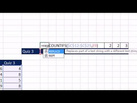 Excel 2013 İstatistiksel Analizi #15: Nokta Çizim Excel Kullanarak Çokeğersay Ve Yinele İşlevlerini Oluşturma.
