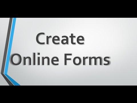 Çevrimiçi Formları Oluşturma