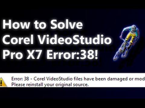 Corel Videostudio Pro X 7 Hata 38 Çözüldü!