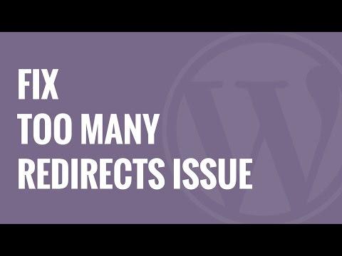Çok Fazla Yönlendirmeleri Sorununu Hata Wordpress Nasıl