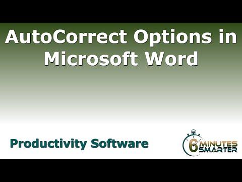 Microsoft Word İçindeki Otomatik Doğru Seçenekleri Kullanarak