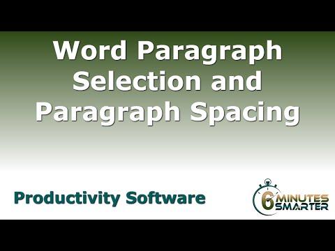 Yöntemleri İçin Paragraf Seçimi Ve Paragraf Aralığı Uygulamak