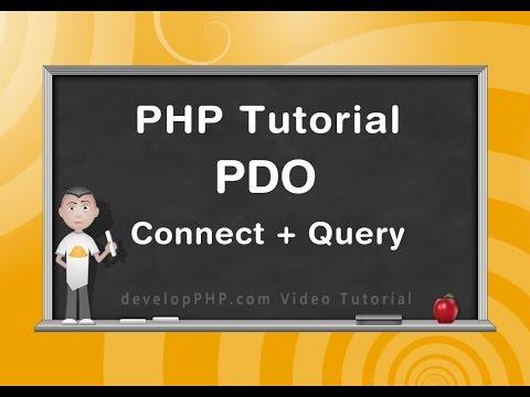 Php Pdo Öğretici Bağlanmak Veritabanı Ve Sorgu Örneği