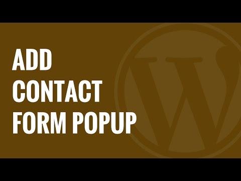 Nasıl Wordpress İletişim Formu Popup Eklemek