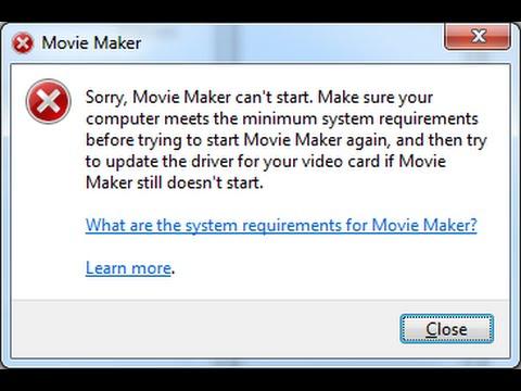 Windows Movie Maker Çalışmıyor, Çözüldü!
