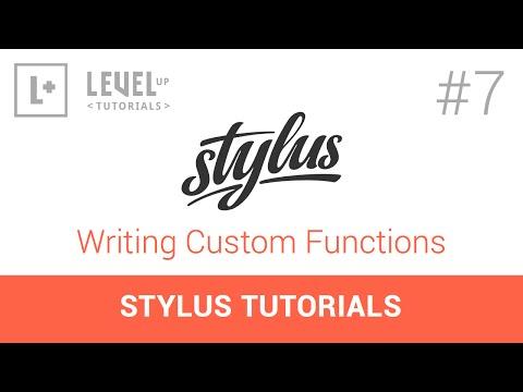 #7 Yazma Özel İşlevler - Stylus Tutorials