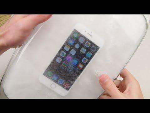 Sıcak Buz Dondurmak Test Bir İphone 6 Daldırma!