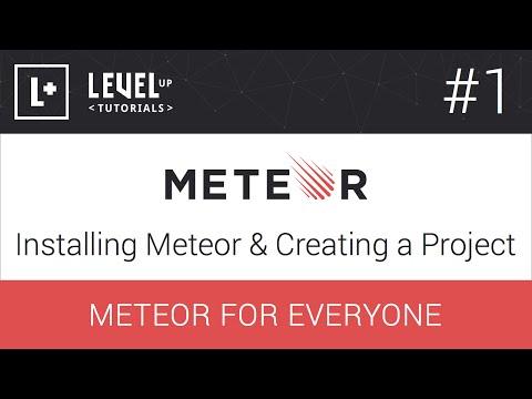 #1 Meteor Yükleme Ve Bir Proje - Meteor Öğreticiler Oluşturma