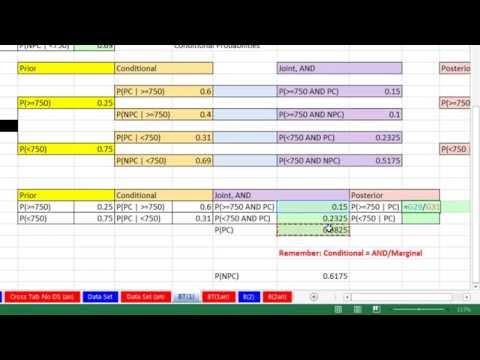 Excel 2013 İstatistiksel Analiz #30: Posterior Olasılıklar Hesaplamak İçin Bayes Teoremi