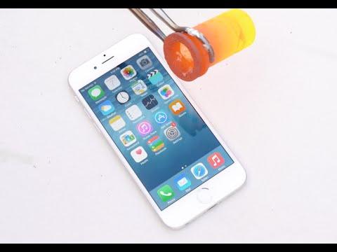 Erimiş Alüminyum Üzerinde Bir İphone 6 Dökme