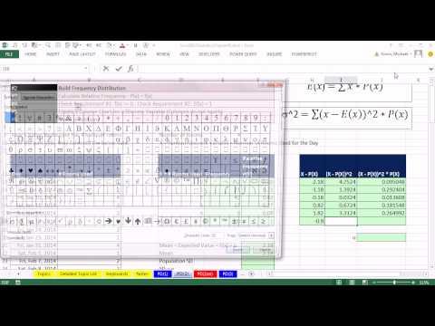 Excel 2013 İstatistiksel Analizi #31: Ayrık Olasılık Dağılımı Oluşturmak, Ortalama Ve Sd Hesaplamak
