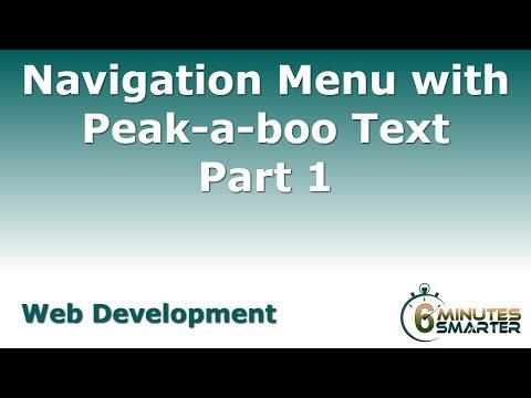 Navigasyon Menüsü İle Tepe-A-Boo Metin - Bölüm 1