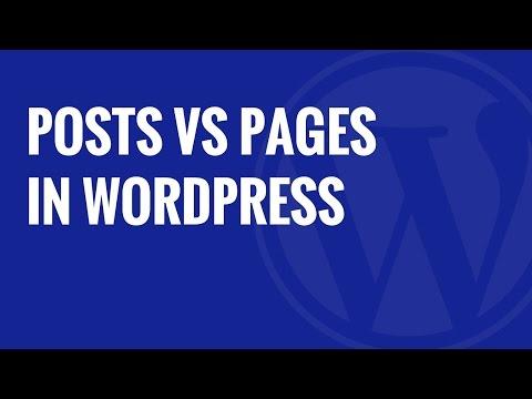 Belgili Tanımlık Fark Arada Posta Vs Wordpress Sayfaları Nedir