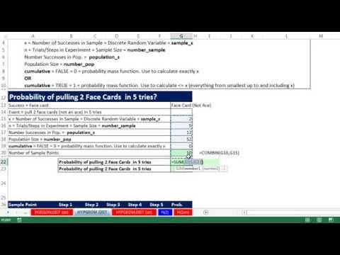 Excel 2013 İstatistiksel Analiz #35: Hipergeometrik Dağılımı Ve Hypgeom. Dağ İşlevi